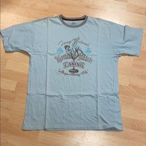 Tommy Bahama Men's Light Blue T-Shirt Non Smoker L